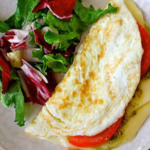 Breakfast Caprese with Pesto