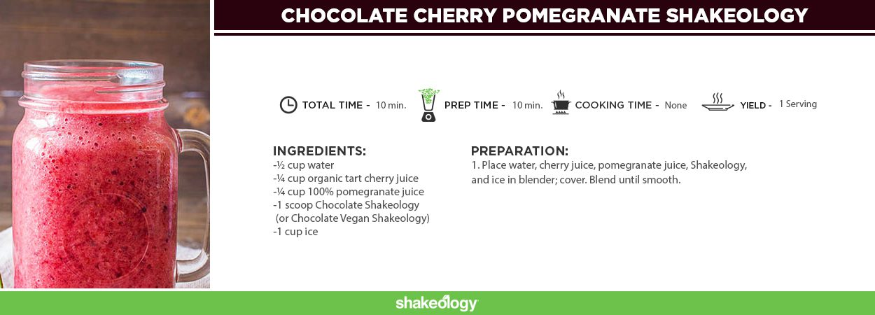 Chocolate Cherry Pomegranate Shakeology