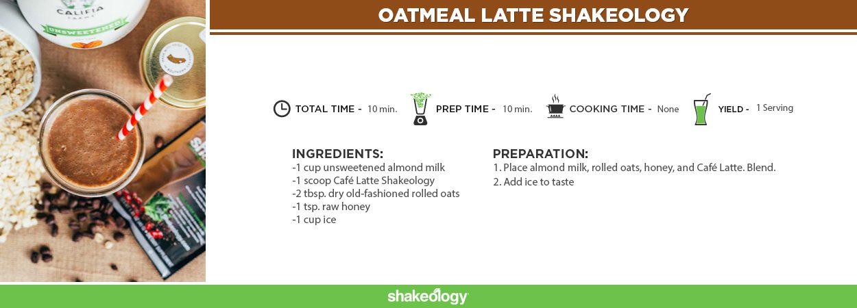 Oatmeal Latte Shakeology