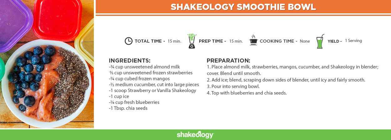 Shakeology Smoothie Bowl.
