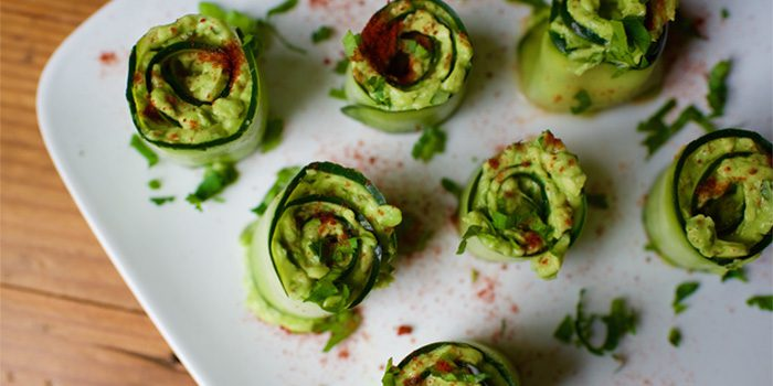 Cucumber Avocado Roll-Ups