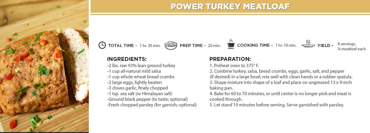 Power Turkey Meatloaf