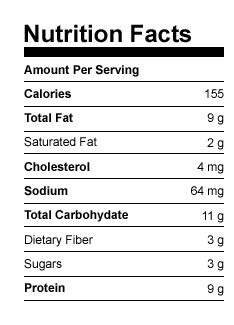Shakeology Chocolate Peanut Butter Oat Bars Nutritional Data