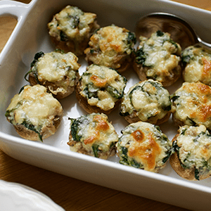 Spinach and Cheese Stuffed Mushrooms