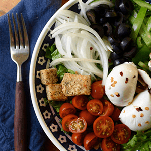 Vegetarian Pizza Salad