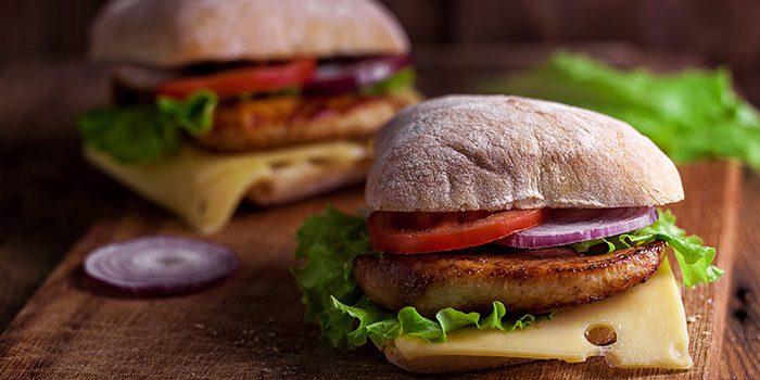 Chicken Ciabatta Sandwiches with Homemade Chicken Patties