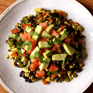 Mexican Tofu Breakfast Scramble