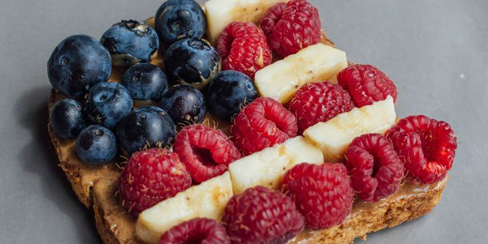 Peanut Butter Banana and Berry Toast
