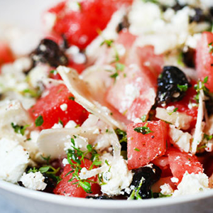 Watermelon, Feta, and Kalamata Olive Salad