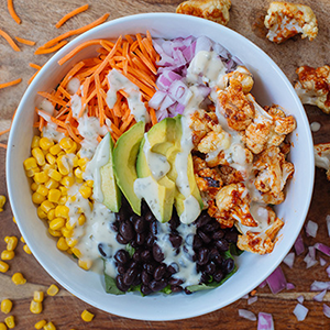 Barbecued Cauliflower Salad