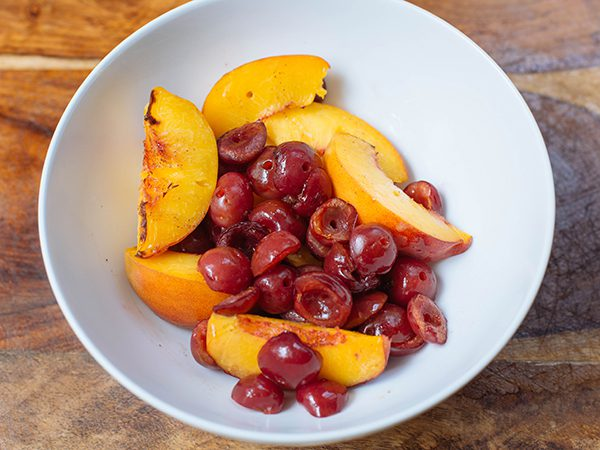 Grilled Peaches and Cherries 1