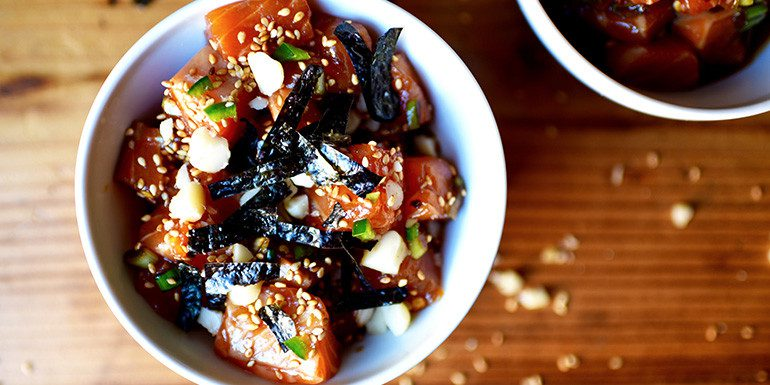 Salmon Poke with Macadamia Nuts