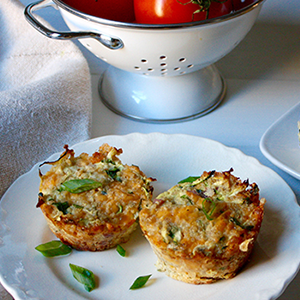 Zucchini, Ham, and Cheese Quinoa Cups