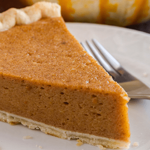 Pumpkin Pie with Whole Wheat Crust