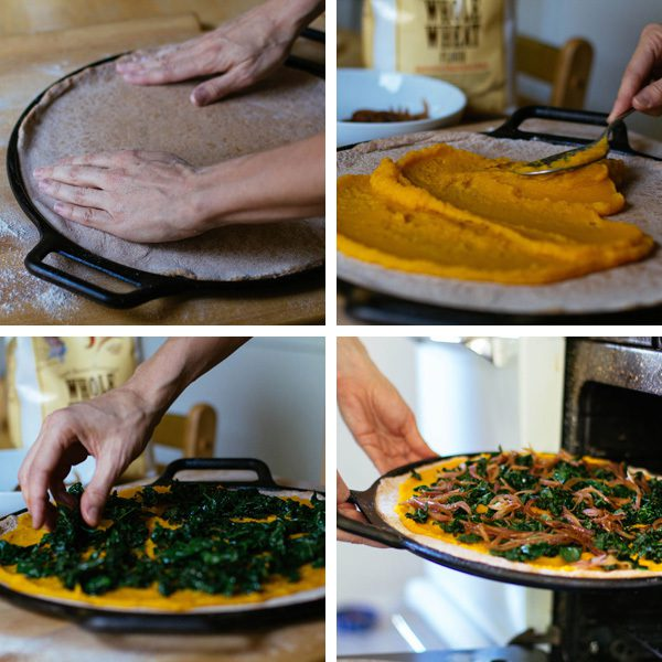 Pumpkin Pizza with Kale