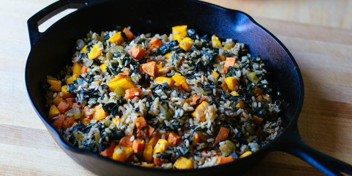 roasted-pumpkin-sweet-potato-and-brown-rice-pilaf