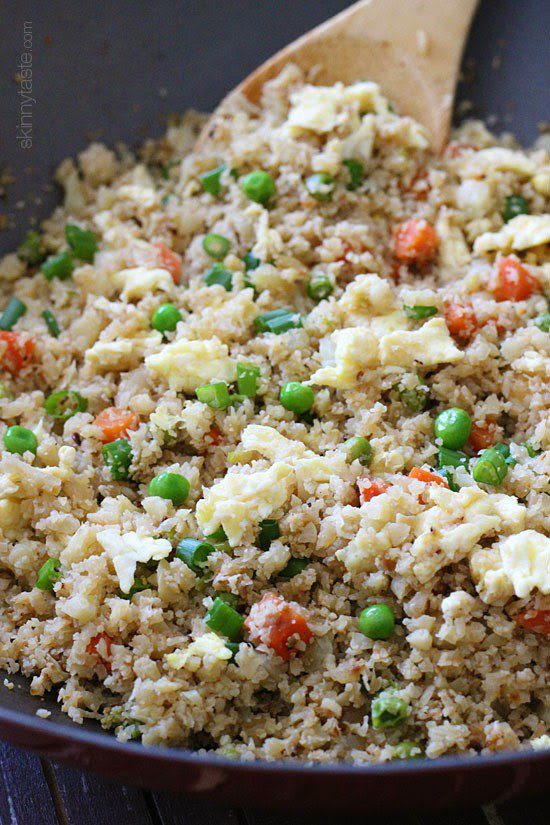 """<img src=""""fried_cauliflower_rice.png"""" alt=""""bowl of fried rice with cauliflower and peas""""/>"""