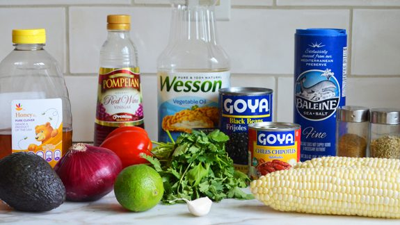 """<img src=""""grocery list for corn salsa.png"""" alt=""""groceries for corn salsa on counter"""">"""