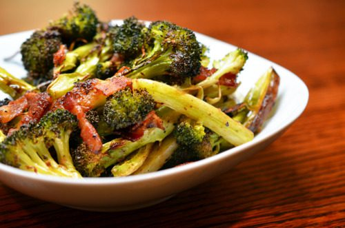 "<img src=""roasted_broccoli_bacon.png"" alt=""roasted broccoli and bacon in a white bowl"">"